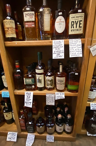 Rye Whiskey at Plaza Liquors