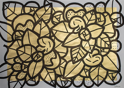 Pierre GUILLONNEAU - Fleur d'Or - 84,1x59,4cm