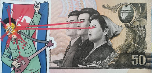 BILLET GRAFFITI RIBO bill - street art - geek art