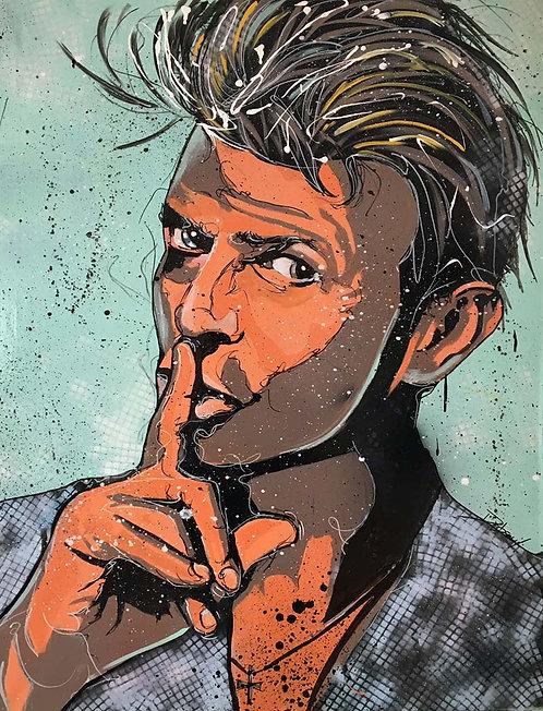 LA STREET GALERIE - Cyril Dubreuil - David Bowie - 97x130cm
