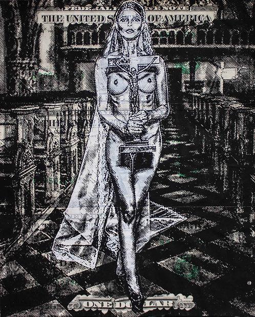 Christopher HENRY - Femme d'église - 15,5x19cm