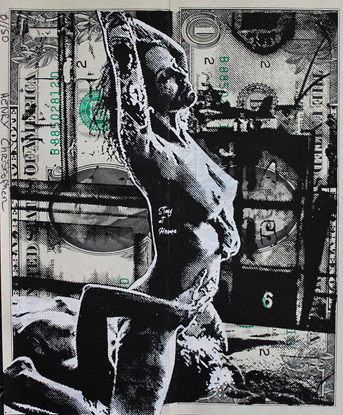 Christopher HENRY - EroticDollArt Stay At Home - 13x15.5cm