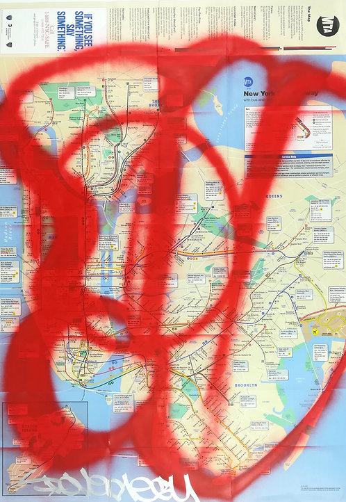 GRAFFITI MAP pov subway - street art - geek art