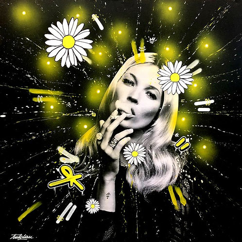 LA STREET GALERIE - ANTO LAU - Kate Moss - 80x80x4cm