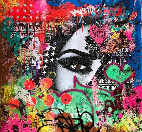 LA STREET GALERIE - INDIE 184 - FATIMA - 121x121cm - 2017