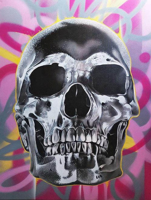 Monsieur MOLLOTOV - Pink Skull - 116x89cm