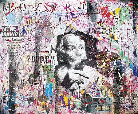 LOUZIO - Le Mozart des mots Jean d'Ormesson - 64x54cm