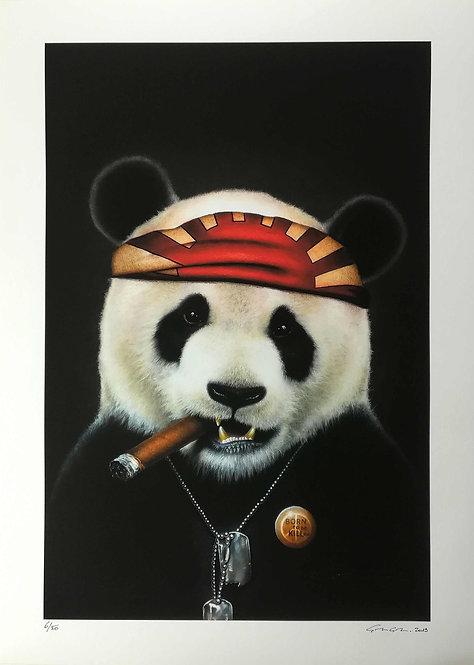 LA STREET GALERIE - ALEXANDRE GRANGER - Kung Fou Panda - 40x60cm