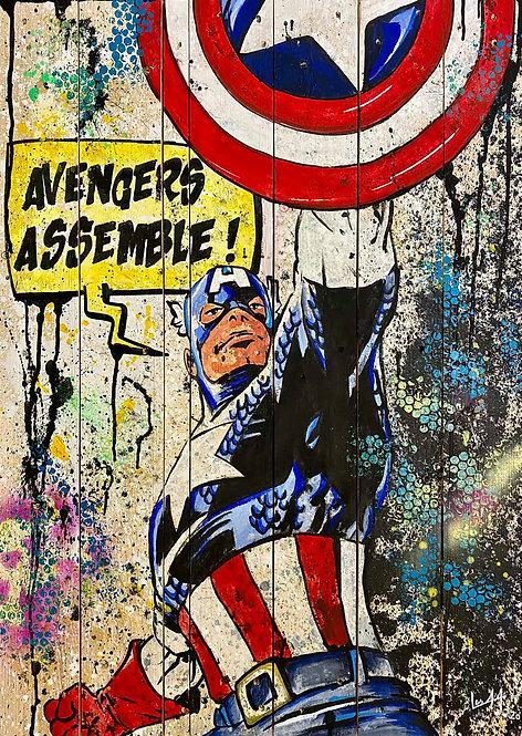 Les Artistes Anonymes - Captain' - 63x88cm
