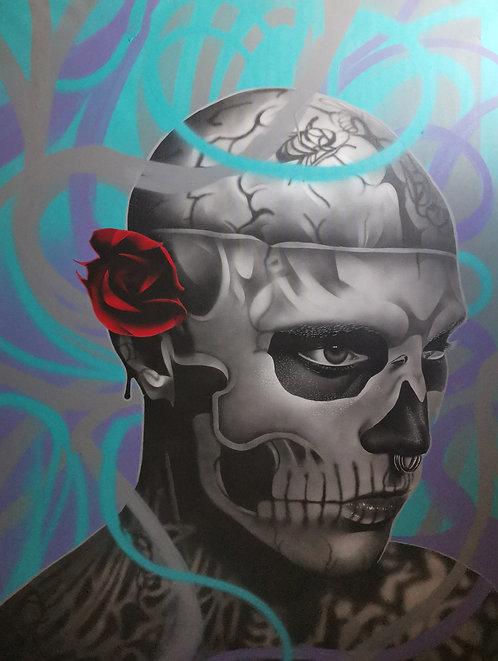 Monsieur MOLLOTOV - Zombie Boy - 89x116cm