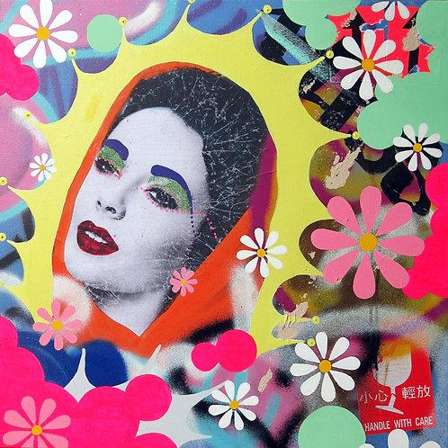 LA STREET GALERIE - INDIE 184 - BLISS - 61x61cm - 2015