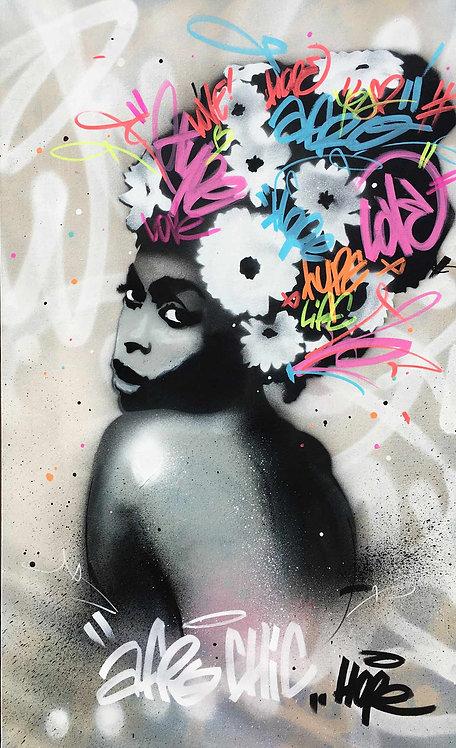 LA STREET GALERIE - HOPE 1393 - Afro Erika - 146x89cm - 2020
