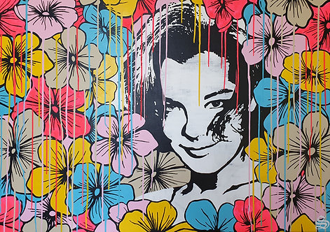 STAN - Romy with flowers - 140x100cm