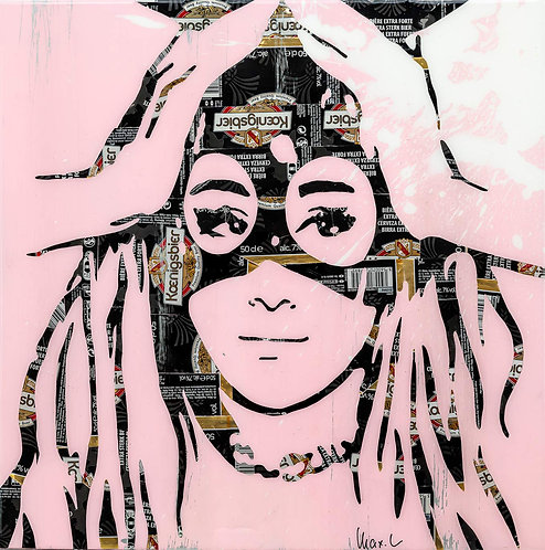 MAXL - Ariana Pink & Black - 48,5x48,5cm