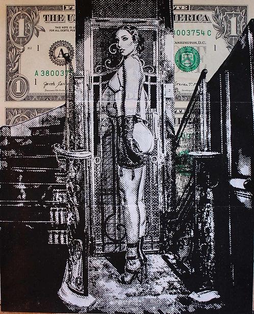 Christopher HENRY - Ascenseur Parisien - 15,5x19cm