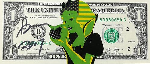 BILLET GRAFFITI DEATH NYC - bill - street art - geek art