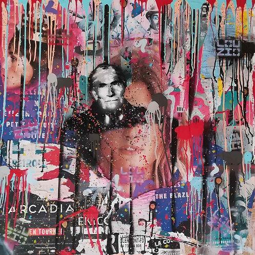 LA STREET GALERIE - LOUZIO - Geronimo - 100x100x3,5cm