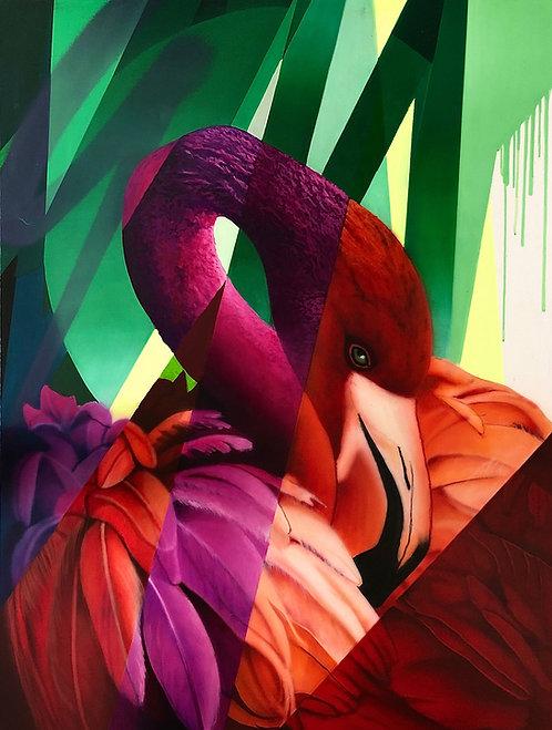 Yannick AARON - FLAMAND ROSE - 90x120cm
