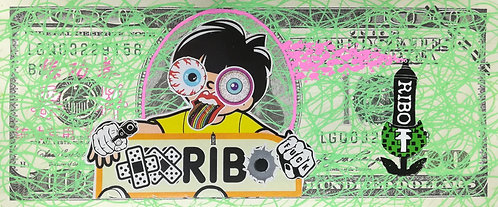 BILLET GRAFFITI RIBO bill - street art - geek art