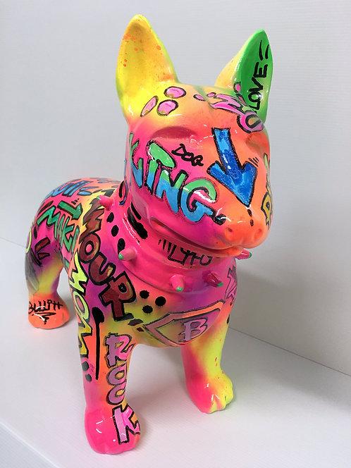 PAPAZ - DOG bull terrier - 60x43cm