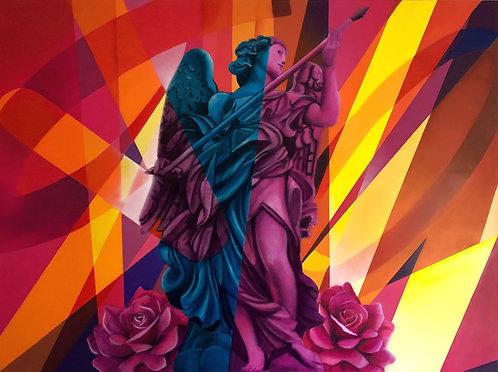 Yannick AARON - ANGEL OF DESTINY - 200x150cm
