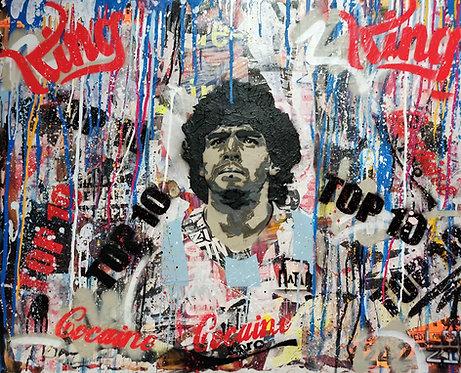 LOUZIO - Maradona - 62x73cm