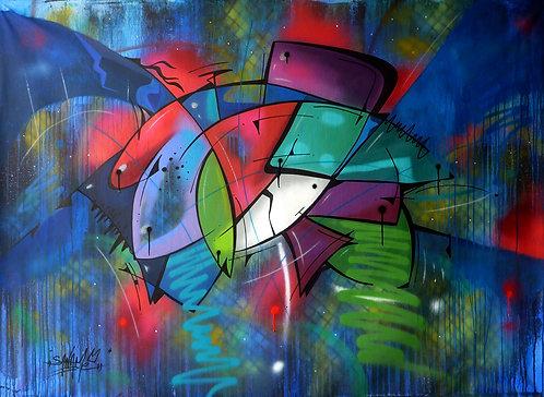SANAME - Fish 8 - 107x146cm