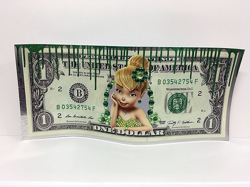 PAPAZ - Billet dollars fée clochette - 79x36cm