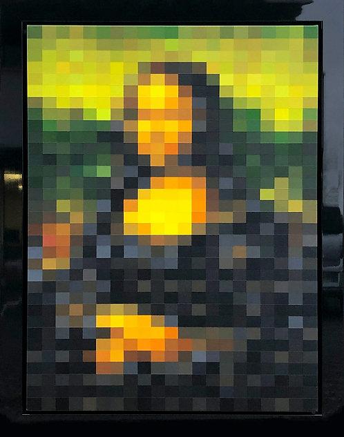 Marie KVK - Mona Lisa Louvre Pixel 17 - 72x92cm