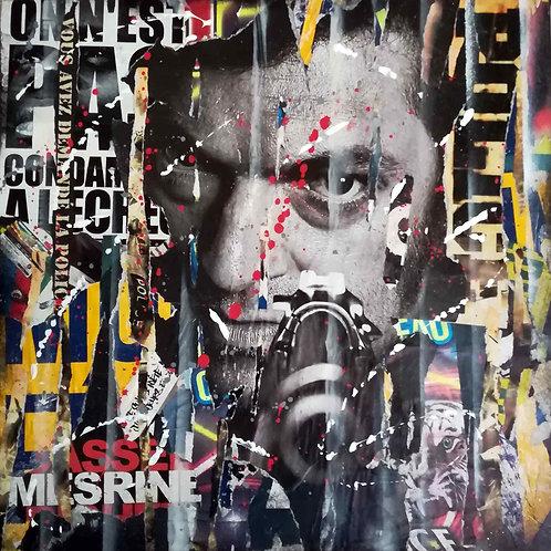 LA STREET GALERIE - LOUZIO - Cassel Mesrine - 50x50x3,5cm