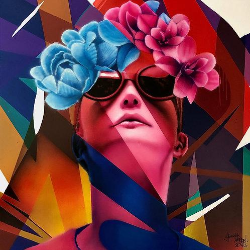 Yannick AARON - POP WOMAN - 100x100cm