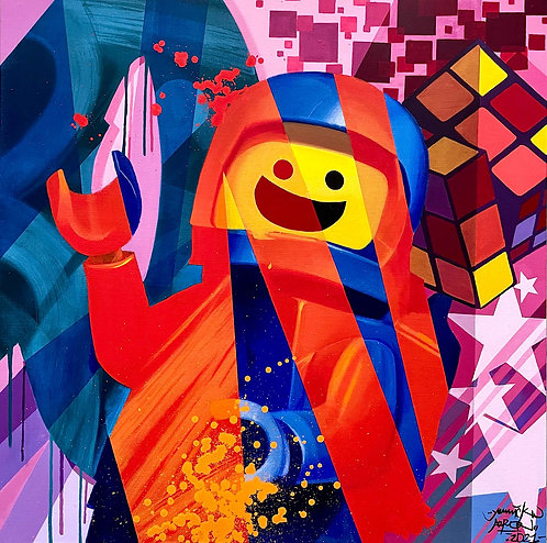 Yannick AARON - Legomania  - 100x100cm