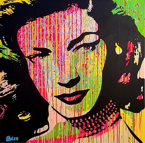LA STREET GALERIE - STAN - Lauren - 100x100cm