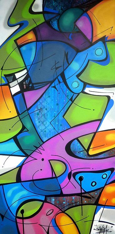 SANAME - Fish 2 - 50x100cm