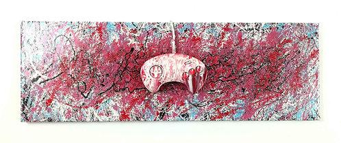 LA STREET GALERIE - RIBO - Bloody Pad - 75x25cm - 2012