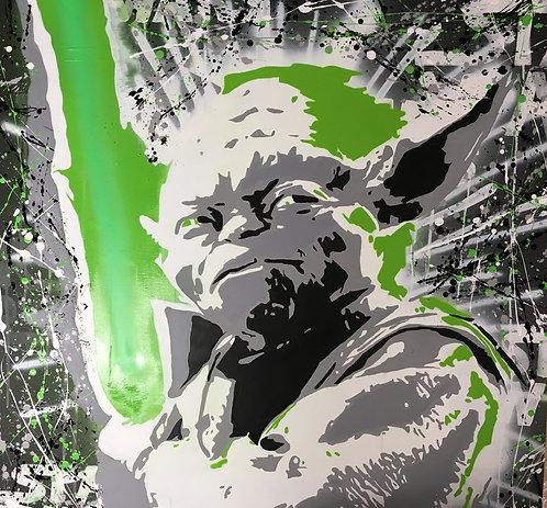 Christophe Biancheri - Yoda - 100x100cm