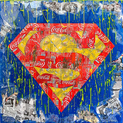 MAXL - Superman recycling - 100x100cm