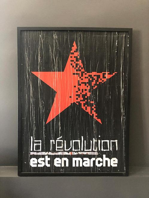 LA STREET GALERIE - DAG - La Révolution est en marche - 62x82cm
