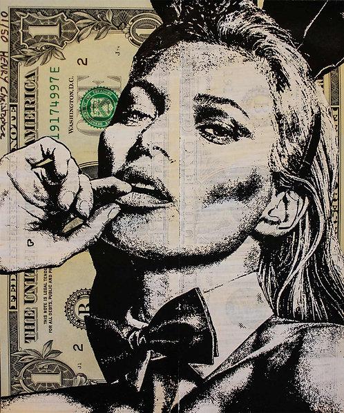 Christopher HENRY - Kate Moss Dollart #7 - 13x15.5cm