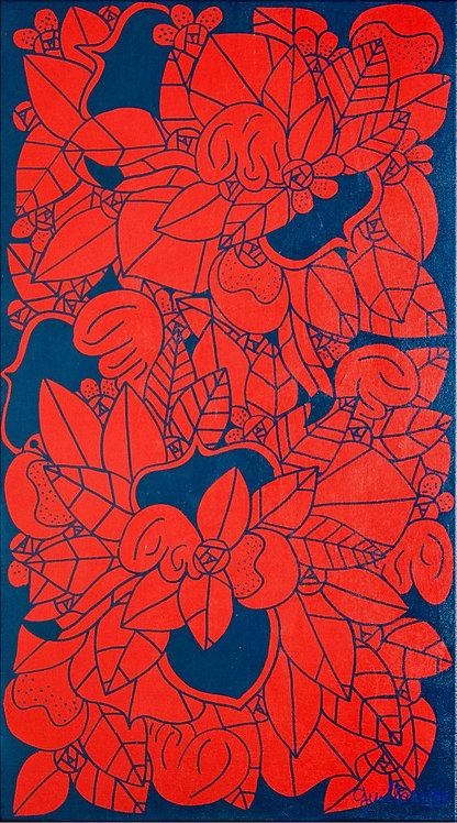 GUILLONNEAU - Roses d'Orient - 50x90cm