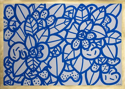 Pierre GUILLONNEAU - Dentelle Bleu 1 - 84,1x59,4cm