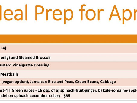 Meal Prep for April 5