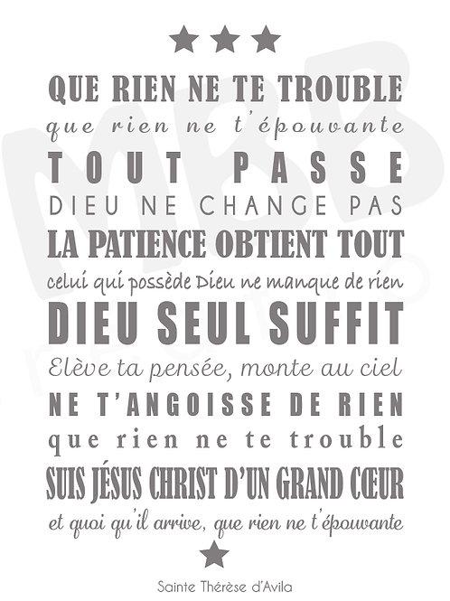 Prière La Confiance de Ste Thérèse d'Avila