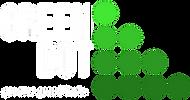 Transparent White Text Green Dot GGF Log