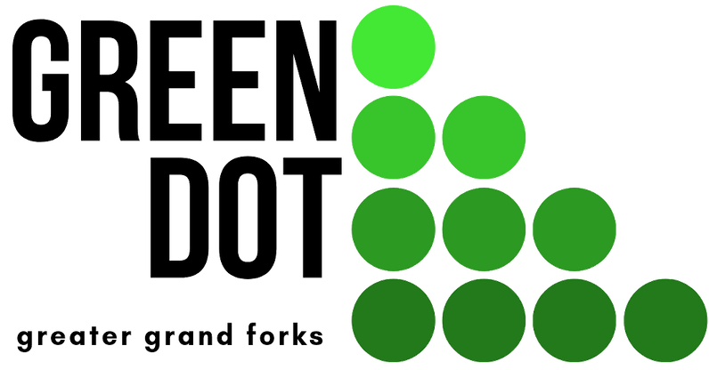 Transparent Black Text Green Dot GGF Log