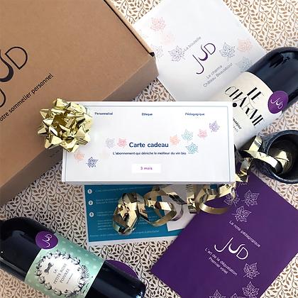 Box cadeau abonnement 3 mois      29,9€      +     5,99€         X 3