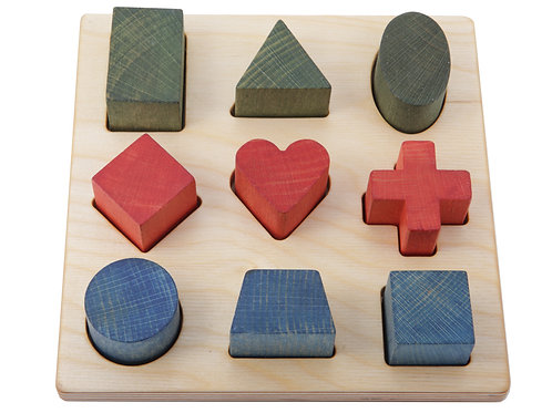 Holzpuzzle bunt - Wooden Story