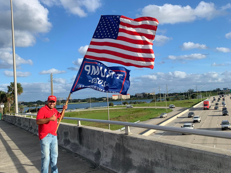Trump supporter shares his pride from I-95