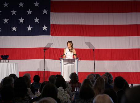 Melania Trump receives Women of Distinction award