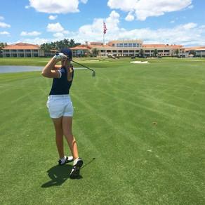Retired college golfer excels as an     aspiring journalist